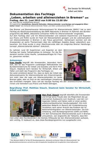 Fachtag 210613 Dokumentation mit Anlagen - bba