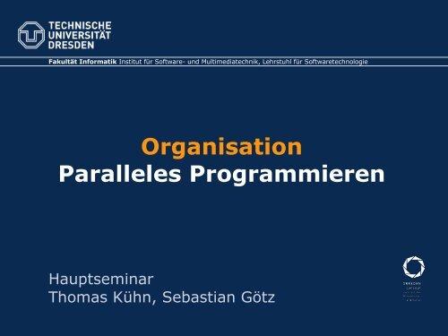 Folien - Lehrstuhl Softwaretechnologie