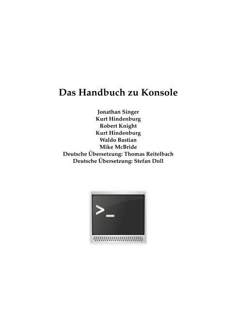 Das Handbuch zu Konsole - KDE Documentation