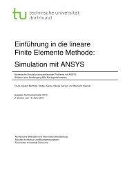 Einführung in ANSYS - TU Dortmund - Architektur und ...