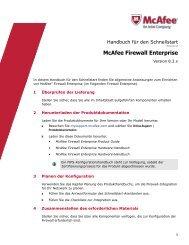 Firewall Enterprise Handbuch für den Schnellstart, 8.3.x - McAfee