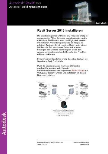 Revit Server 2013 installieren - Autodesk