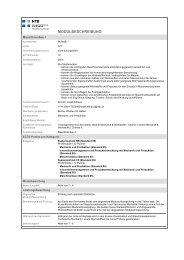 Profilmodule - NTB - Interstaatliche Hochschule für Technik Buchs