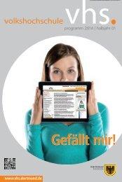 programm 2014 | halbjahr 01 - VHS Dortmund - Stadt Dortmund