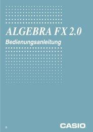 Casio FX 2.0 Algebra - Support