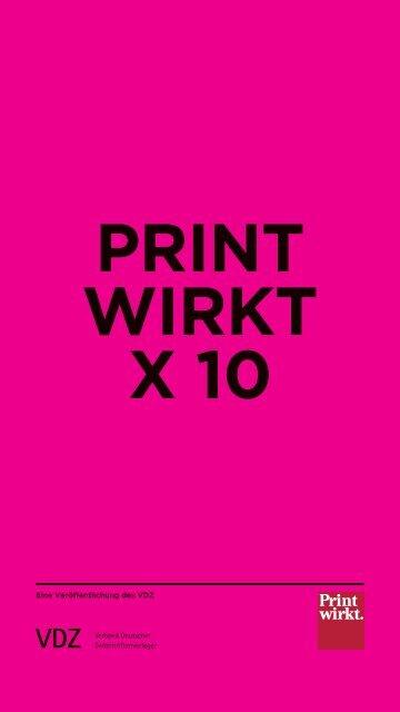 Print wirkt x 10 - IQ media marketing