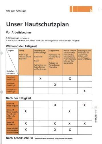 Unser Hautschutzplan - haar-werk.ch