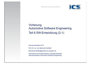 SW-Entwicklung Teil 2-1.pdf - Technische Universität Dresden
