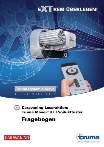 Fragebogen Mover XT für Produkttester (PDF) - Caravaning