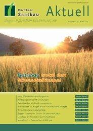 Getreide trotzt den Stresseinflüssen! - Kärntner Saatbau