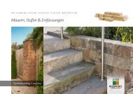 Systemkatalog C: Mauern, Stufen & Einfassungen - Gerwing