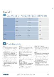 Kapitel 1 Gas/Wand- u. Kompaktheizzentral-Pakete Produktvorteile