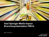 Download Branchenpräsentation FMCG - Axel Springer MediaPilot