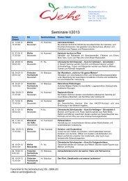 Seminarplan - CF Gastro