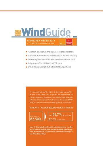 Mediadaten WINDGUIDE 2013.pdf - BVA Bielefelder Verlag