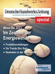 Im Zeichen der Energiewende - Deutsche Handwerks Zeitung