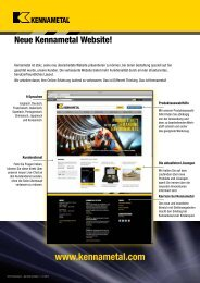 Kennametal Website Launch — C-12-02918DE (XXXMB)