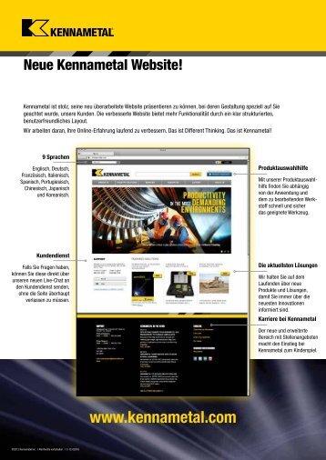 Kennametal Website Launch — C-12-02918DE (XXXMB)
