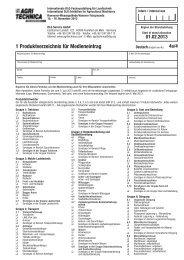 1 Produktverzeichnis für Medieneintrag - Agritechnica