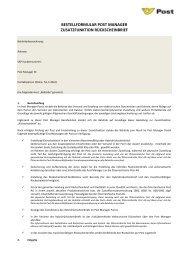 Bestellformular Behörden Modul hybrider Rückscheinbrief