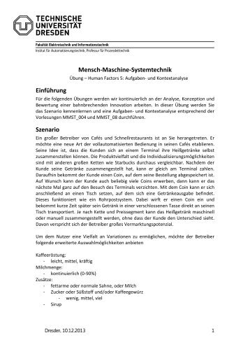 Human Factors 5: Psychophysiologie - Fakultät Elektrotechnik und ...