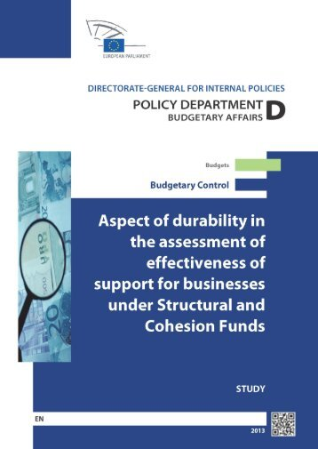 Aspect of durability in the assessment of effectiveness of support for ...