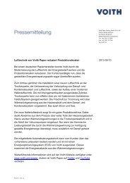 Lufttechnik von Voith Paper reduziert Produktionskosten 2013-09-10 ...