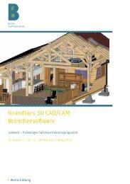 Grundkurs 3D CAD/CAM Branchensoftware - AHB - Berner ...