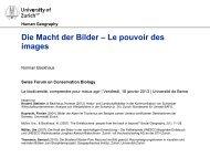 Die Macht der Bilder – Le pouvoir des images - Swiss Biodiversity ...