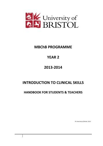 MBChB PROGRAMME YEAR 2 2013-2014 INTRODUCTION TO ...