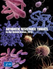 Antibiotic Resistance Threats in the United States, 2013 report