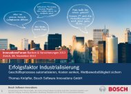 (Bosch Software Innovations GmbH): Erfolgsfaktor Industrialisierung