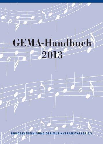 GEMA Handbuch 2013 - DEHOGA Niedersachsen