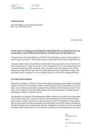 Forslag til bekendtgørelse om ulovligt træ ... - Dansk Erhverv