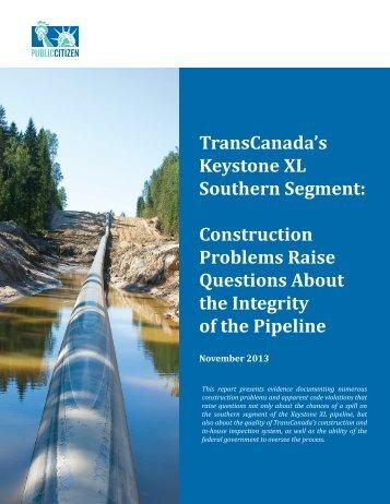 TransCanada's Keystone XL Southern Segment ... - Public Citizen
