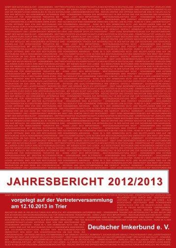 JAHRESBERICHT 2012/2013 - Deutscher Imkerbund