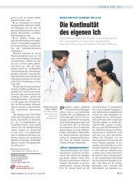 Die Kontinuität des eigenen Ich - Deutsches Ärzteblatt