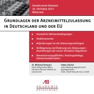 Grundlagen der Arzneimittelzulassung in Deutschland und der EU