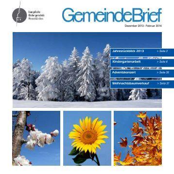 Gemeindebrief Dezember 2013 - EKWK.de