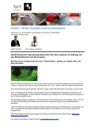 Herbst- / Winter-Ausgabe unseres Newsletters - Facit Research
