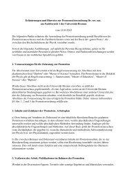 Erläuterungen und Hinweise zur Promomotionsordnung Dr. rer. nat ...