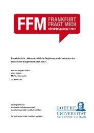 """Projektbericht """"Wissenschaftliche Begleitung und Evaluation des ..."""