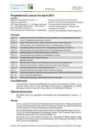 Projektbericht Januar bis April 2013 - Flussparadies Franken