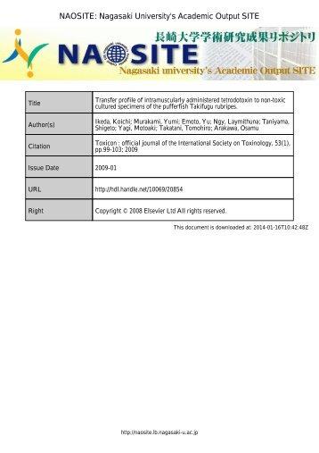 NAOSITE: Nagasaki University's Academic Output SITE