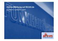 Online-Werbung auf 89.0rtl.de - Funkhaus Halle