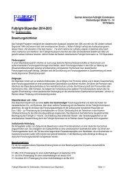 Informationen zu den Bewerbungsrichtlinien sowie zum ...