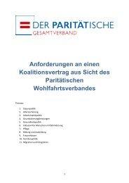 Forderungen für den Koalitionsvertrag zwischen CDU und SPD