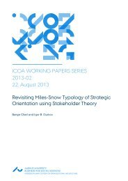 ICOA WORKING PAPERS SERIES 2013-02 22, August ... - PURE