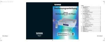 Stereo Küchenradio mit CD-Player - Globaltronics