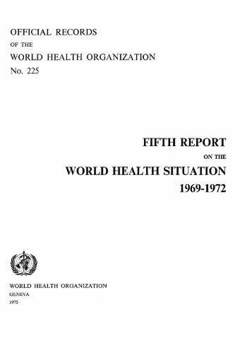 FIFTH REPORT - World Health Organization